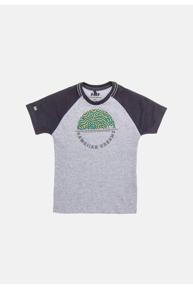 Camiseta-HD-Infantil-Estampada-Raglan-Cinza-Mescla