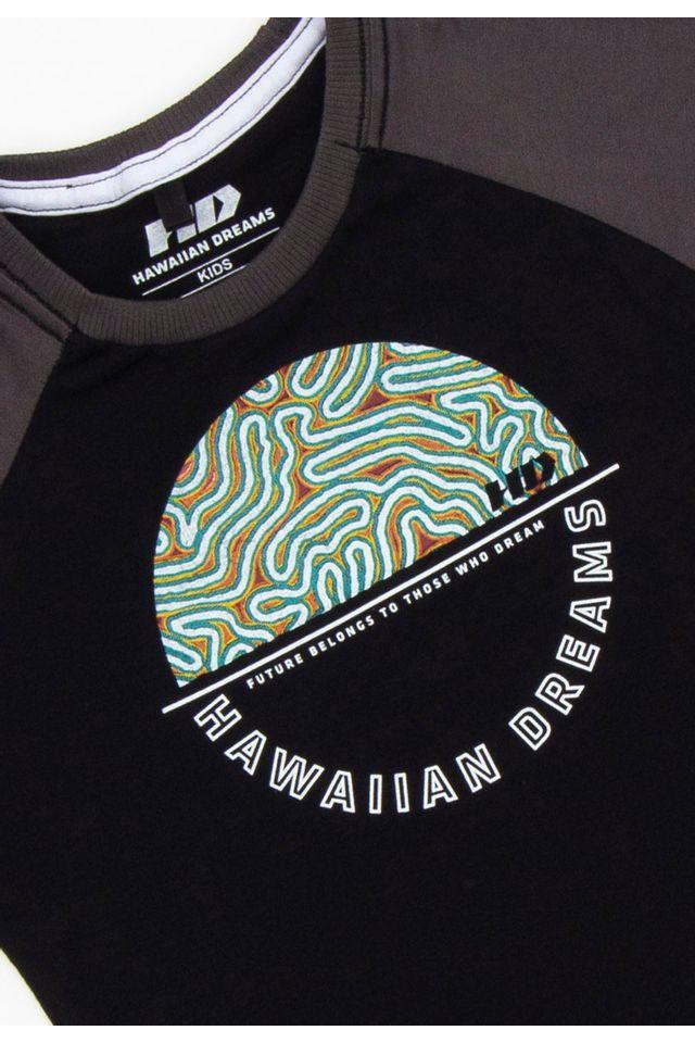 Camiseta-HD-Infantil-Estampada-Raglan-Preta