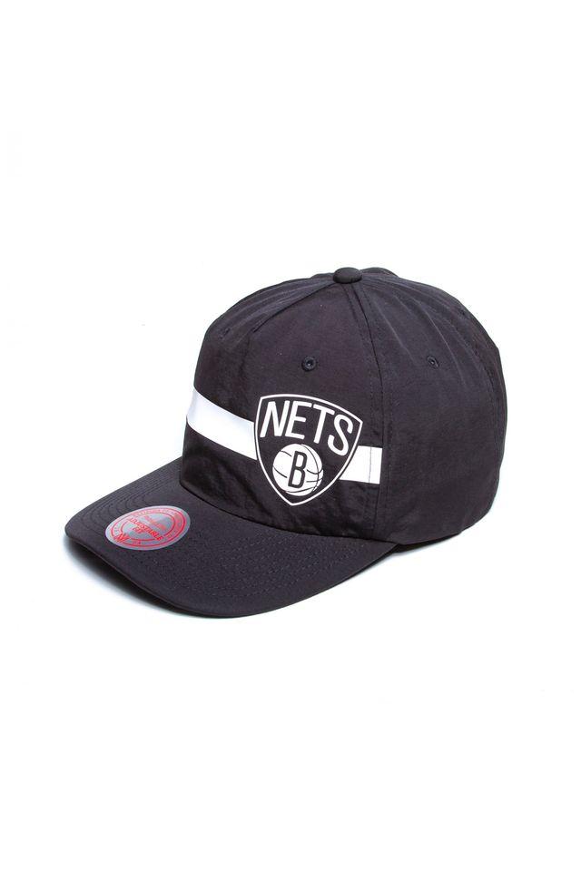 Bone-Mitchell---Ness-NBA-Aba-Curva-Snapback-Brooklyn-Nets-Preto