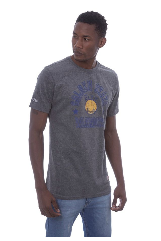 Camiseta-Mitchell---Ness-Estampada-Down-to-Golden-State-Warriors-Cinza