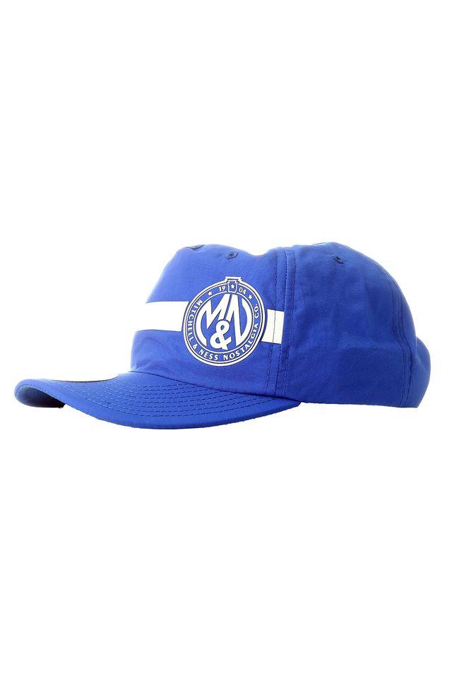 Bone-Mitchell---Ness-Aba-Curva-Snapback-Branded-Azul
