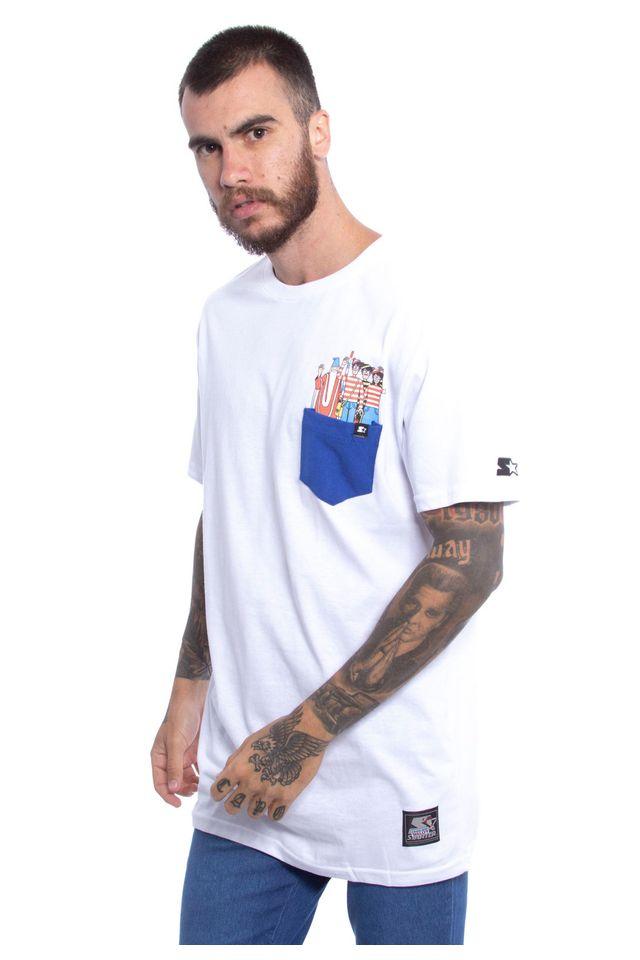Camiseta-Starter-Basica-Pocket-Estampada-Collab-Wally-Branca