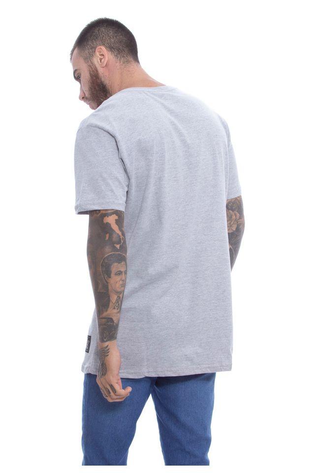 Camiseta-Starter-Basica-Pocket-Estampada-Collab-Wally-Cinza-Mescla