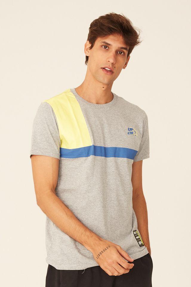 Camiseta-Starter-Estampada-Black-Label-Cinza-Mescla