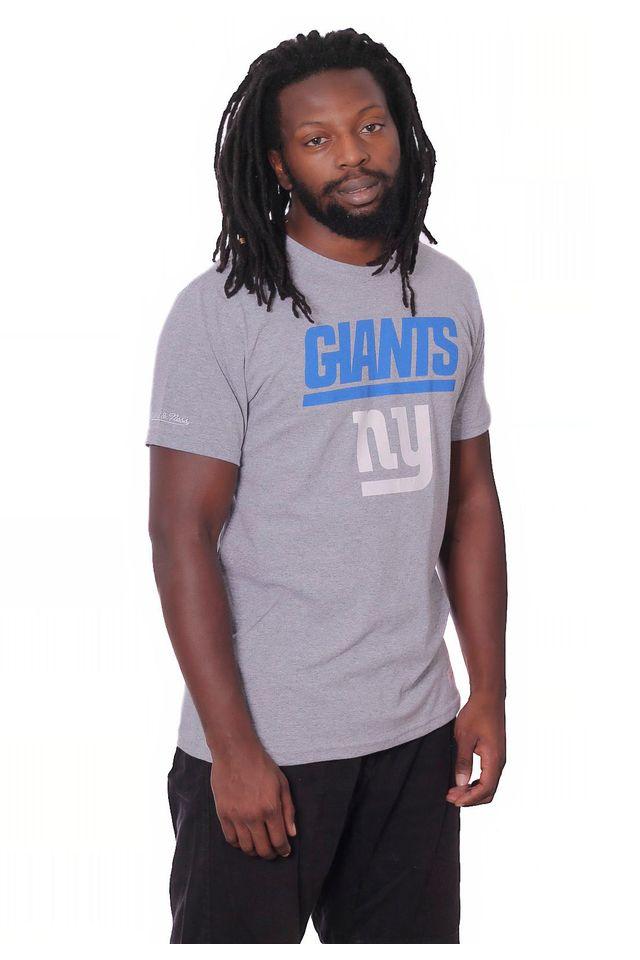 Camiseta-Mitchell---Ness-Estampada-NFL-New-York-Giants-Cinza-Mescla