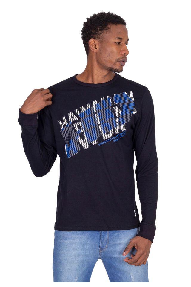 Camiseta-HD-Manga-Longa-Estampada-Preta
