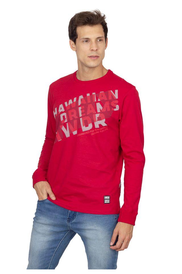 Camiseta-HD-Manga-Longa-Estampada-Vermelha
