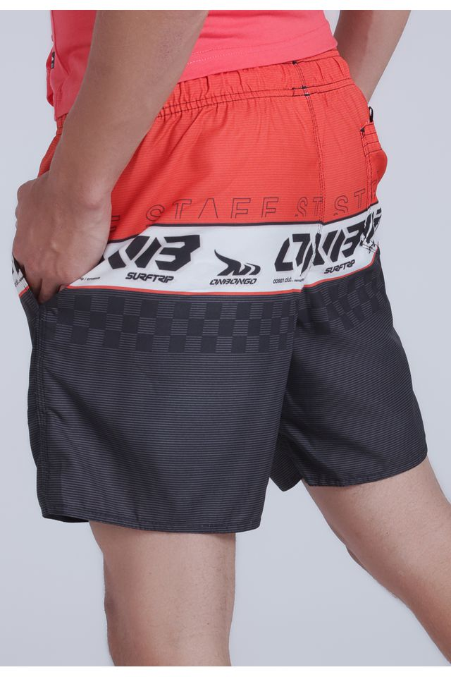 Shorts-Onbongo-Volley-Laranja