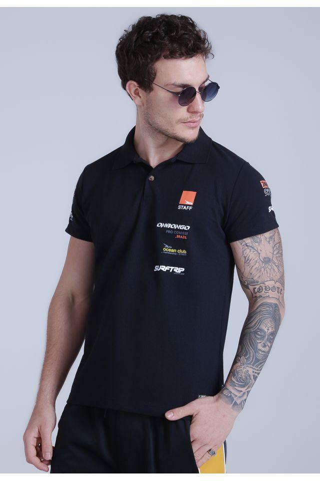 Camisa-Polo-Onbongo-Estampada-Preta