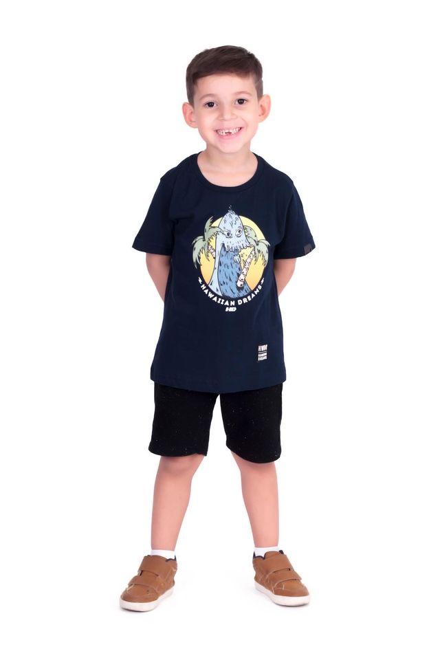 Camiseta-HD-Infantil-Estampada-Azul-Marinho