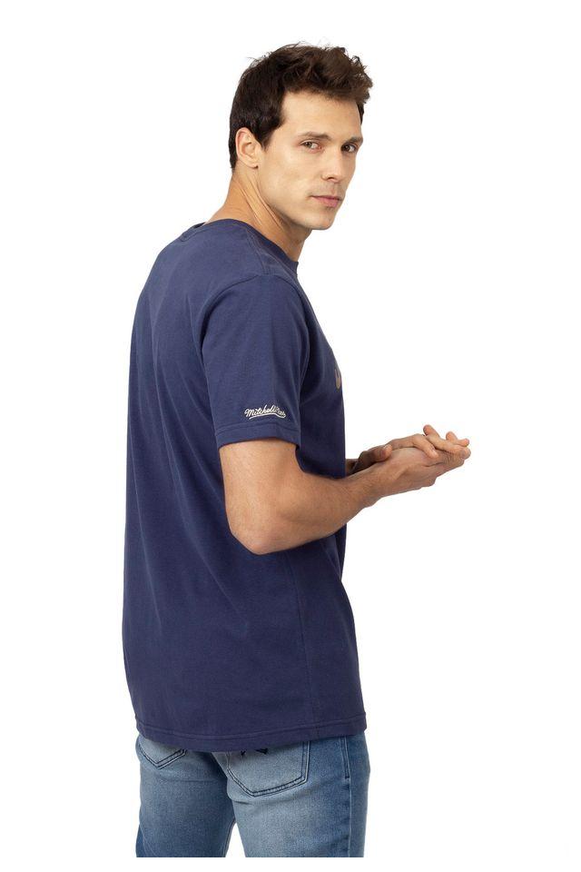 Camiseta-Mitchell---Ness-Estampada-Branding-Azul
