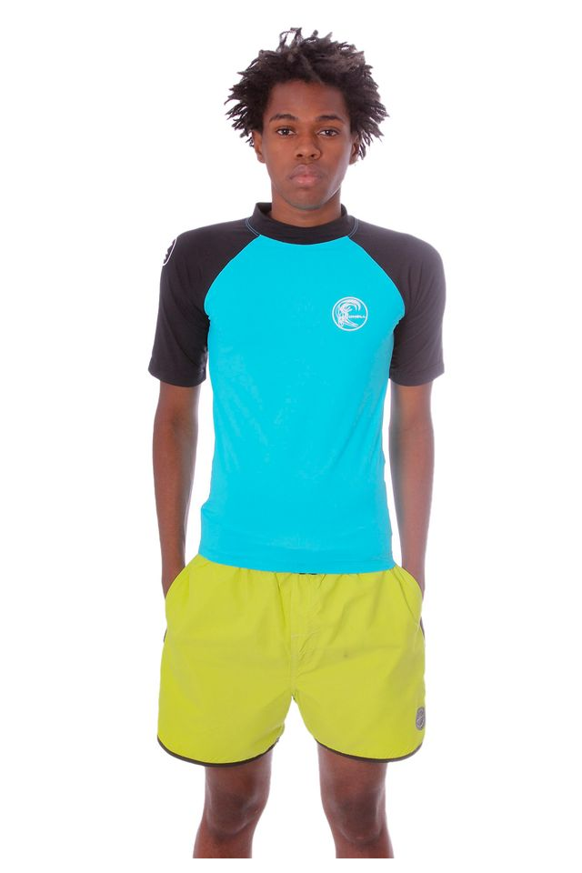 Camiseta-Oneill-Raglan-Manga-Curta-Lycra-Azul