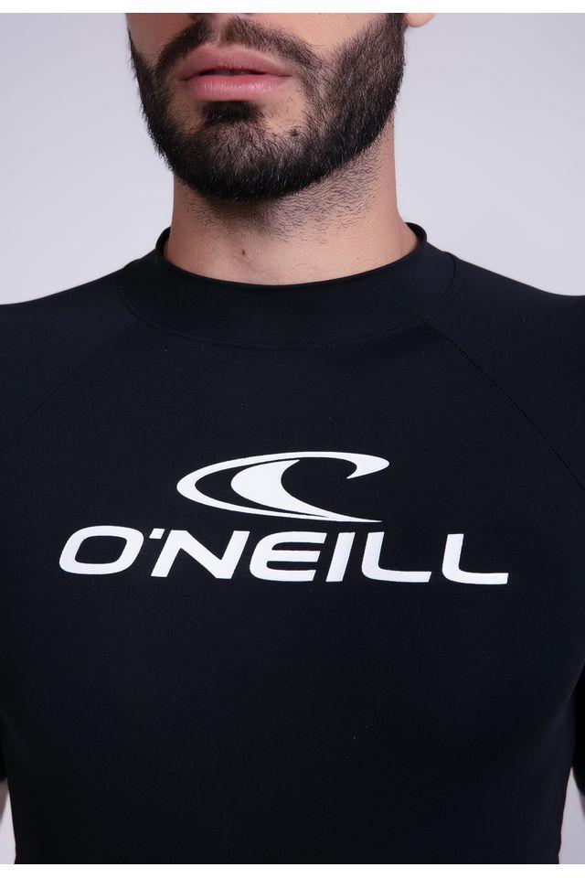 Camiseta-Oneill-Estampada-Manga-Curta-Lycra-Preta