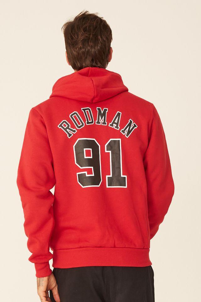 Moletom-Mitchell---Ness-Fechado-Com-Capuz-Chicago-Bulls-Denis-Rodman-Vermelho