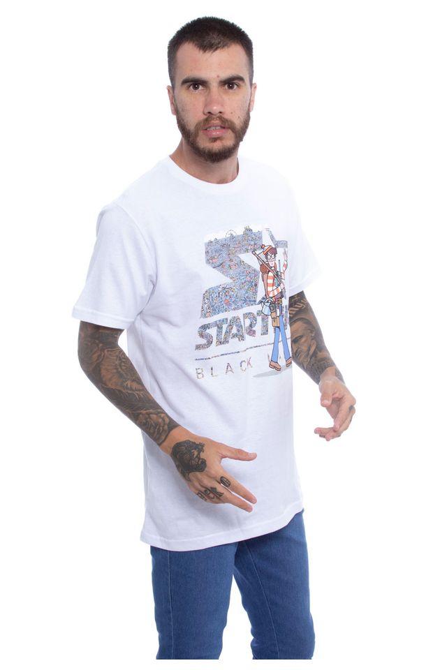 Camiseta-Starter-Estampada-Travels-Collab-Wally-Branca
