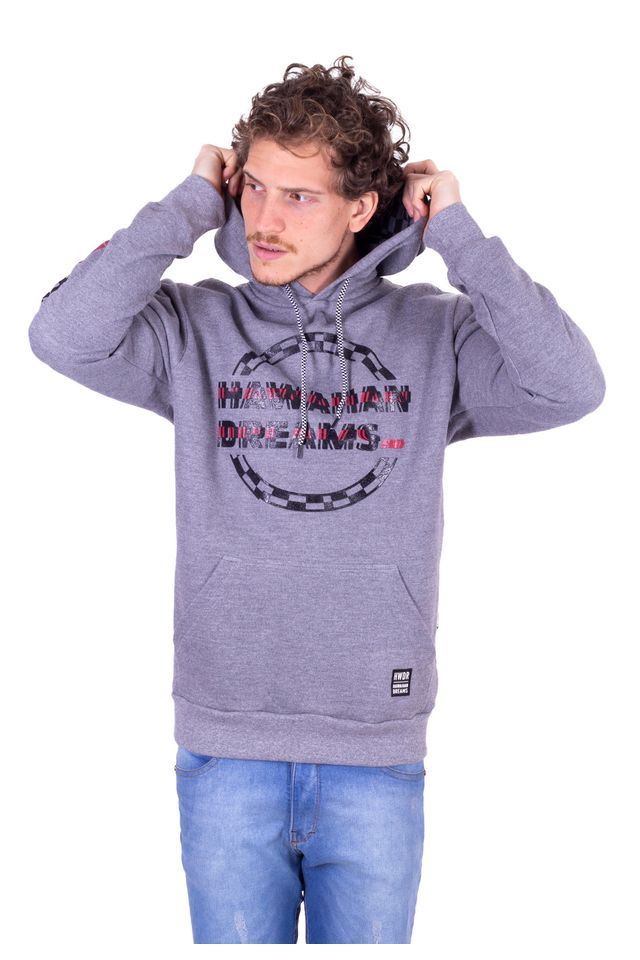 Moletom-HD-Fechado-Com-Capuz-Cinza-Escuro