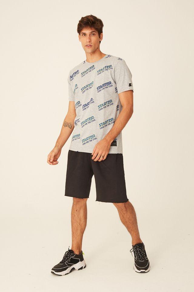 Camiseta-Starter-Basica-Estampada-Cinza-Mescla
