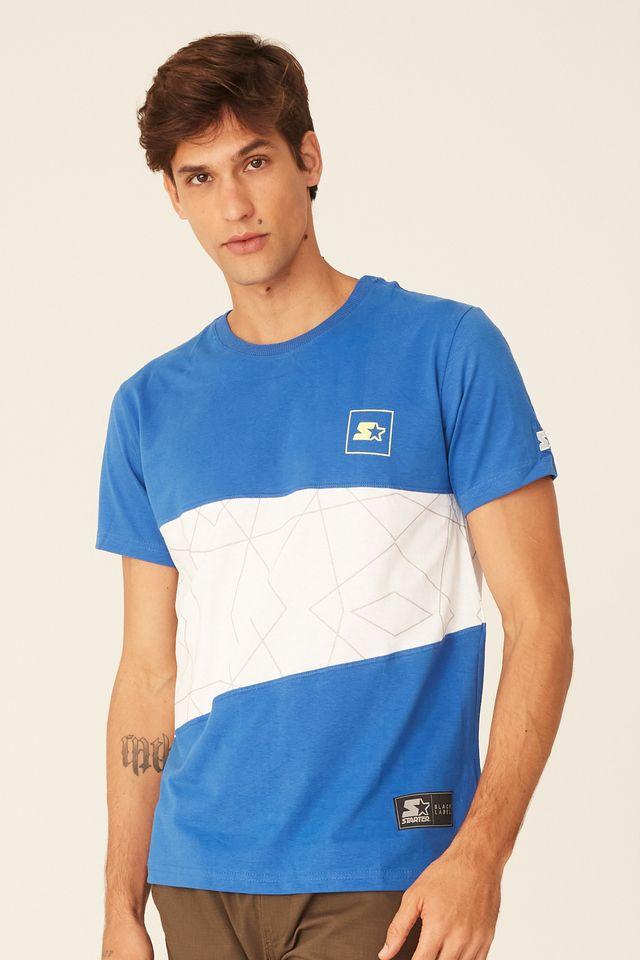 Camiseta-Starter-Recortada-Black-Label-Azul