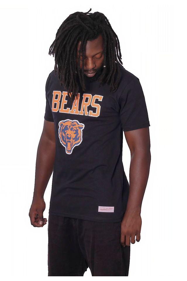 Camiseta-Mitchell---Ness-Basica-Estampada-Chicago-Bears-Preta