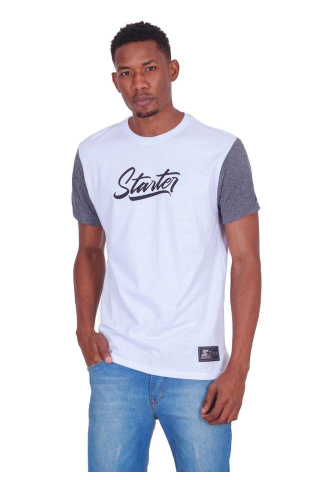 Camiseta-Starter-Raglan-Estampada-Black-Label-Branca
