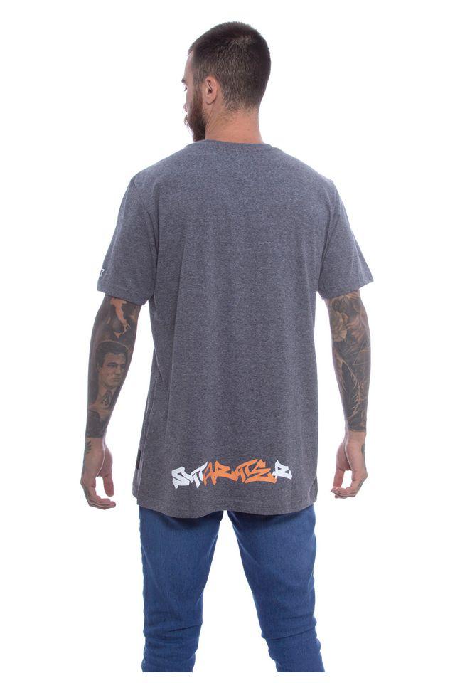 Camiseta-Starter-Estampada-Black-Label-Compton-City-Cinza-Mescla-Escuro
