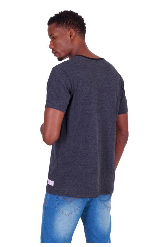 Camiseta-Mitchell---Ness-Estampada-Los-Angeles-Lakers-Cinza-Mescla-Escuro