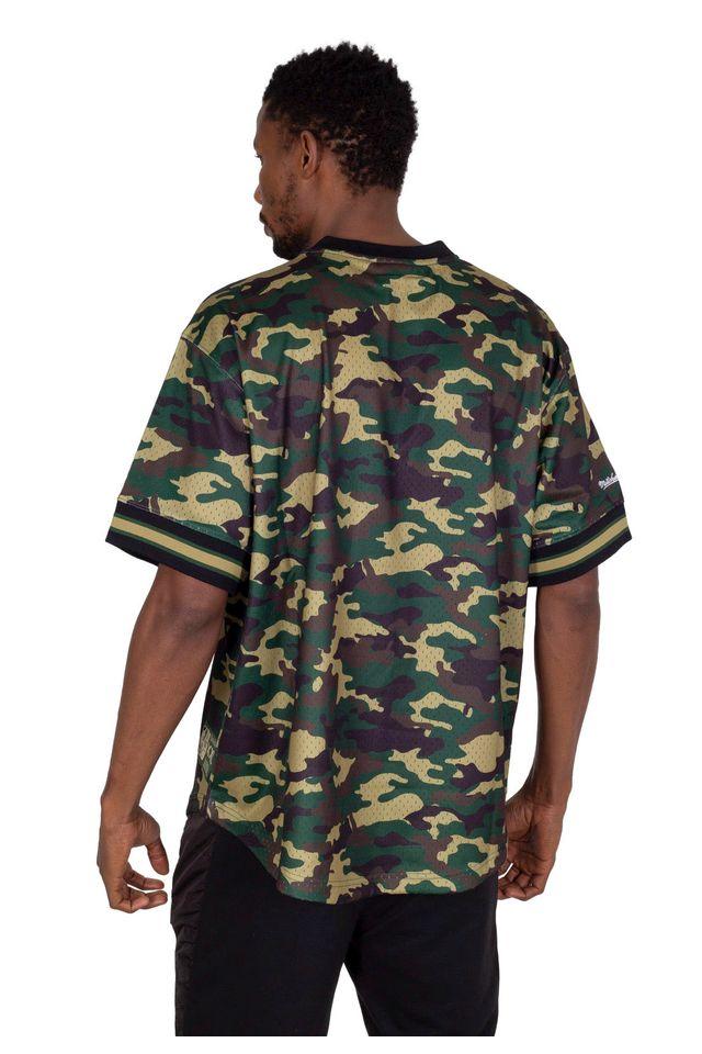 Camisa-Mitchell---Ness-Manga-Curta-Swingman-Camuflada-Chicago-Bulls-Verde