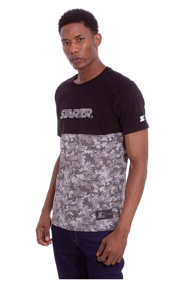 Camiseta-Starter-Especial-Camuflada-Cut-Preta