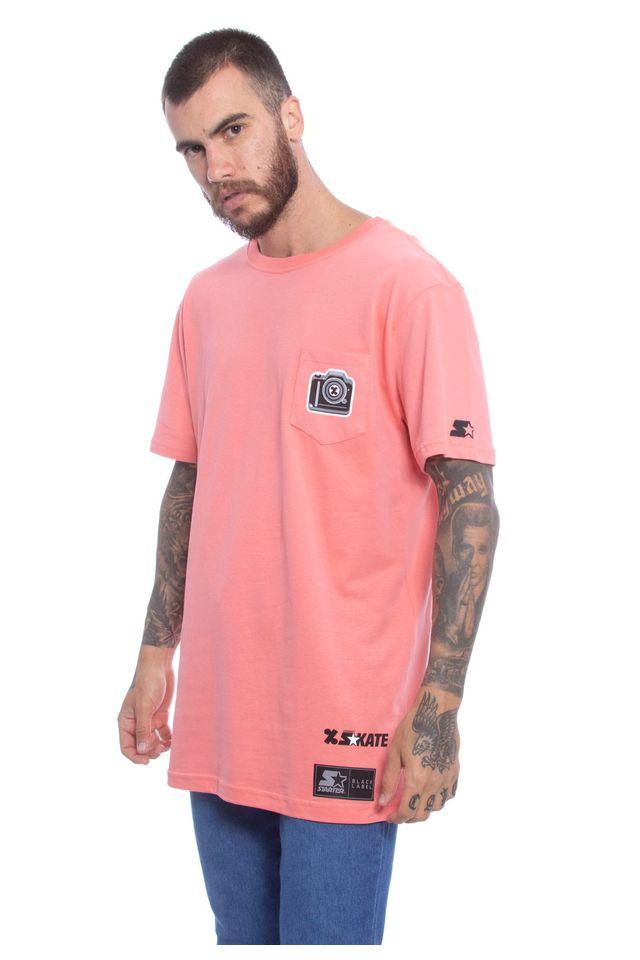 Camiseta-Starter-Estampada-Collab-Cemporcento-Skate-Laranja