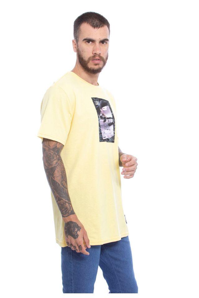 Camiseta-Starter-Estampada-Collab-Cemporcento-Skate-Amarela