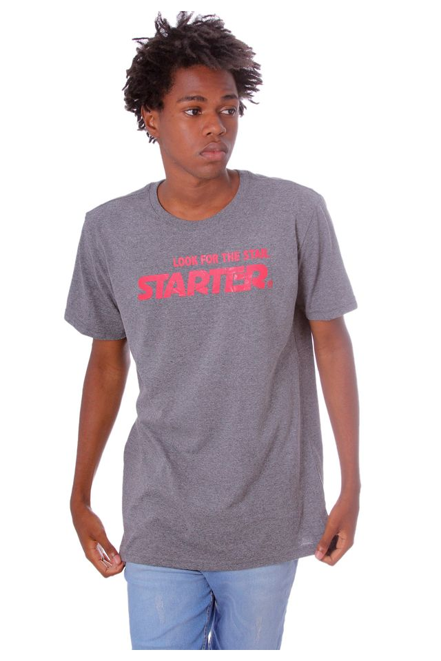 Camiseta-Starter-Estampada-Look-For-The-Stars-Cinza-Mescla-Escuro
