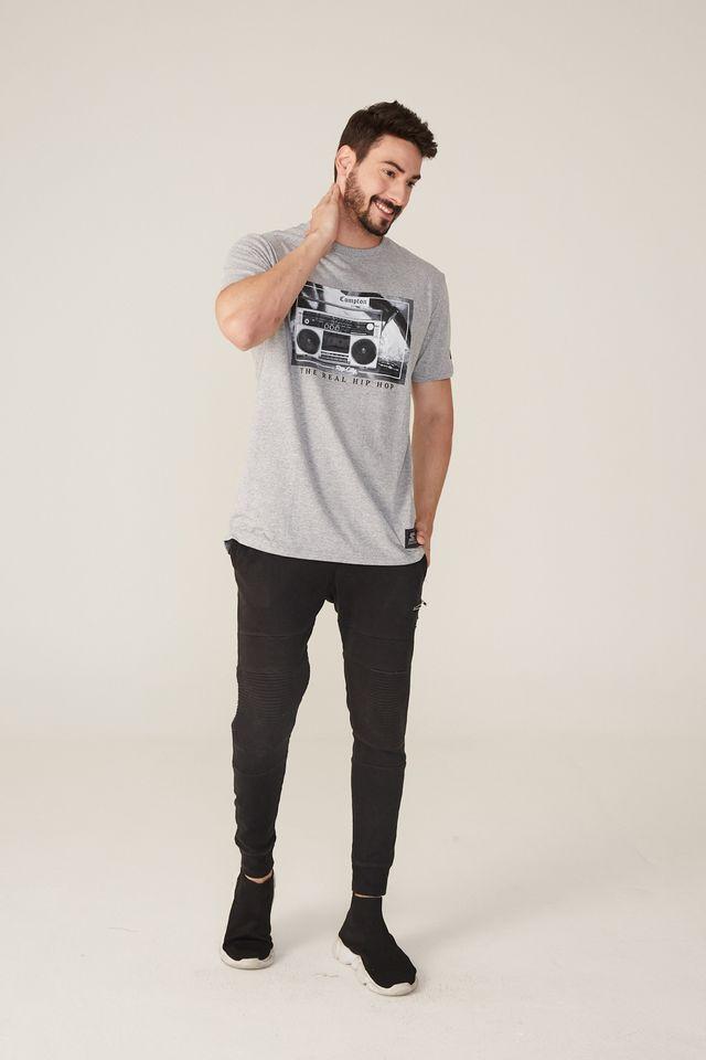 Camiseta-Starter-Estampada-Compton-Hip-Hop-Cinza-Mescla