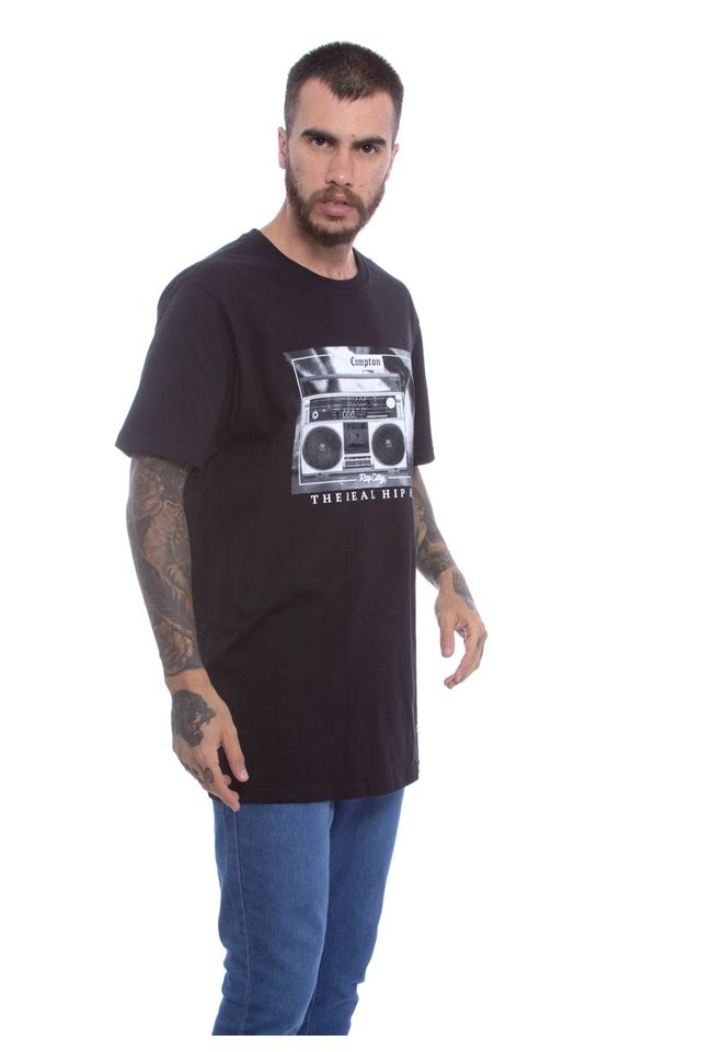 Camiseta-Starter-Estampada-Compton-Hip-Hop-Preta