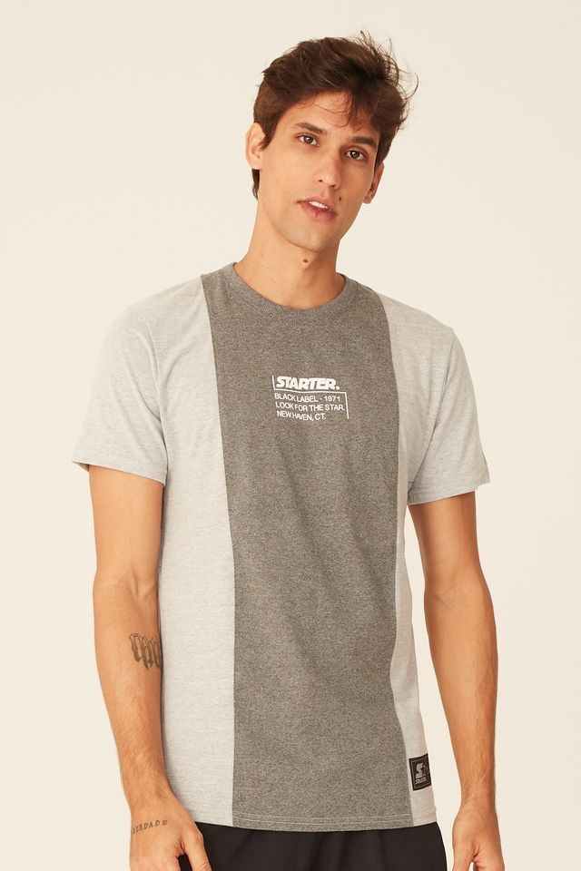 Camiseta-Starter-Especial-Black-Label-Cinza-Mescla