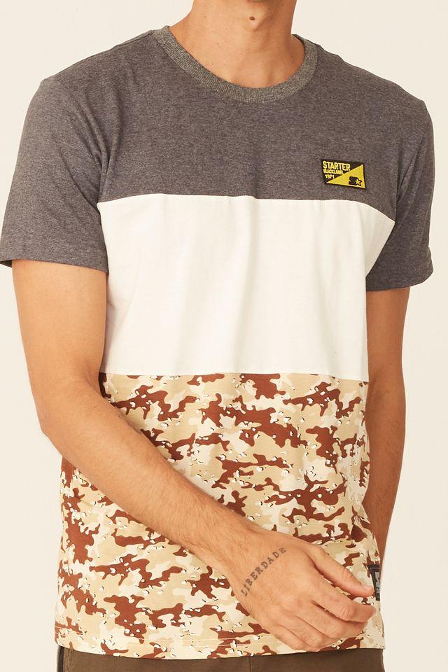 Camiseta-Starter-Especial-Black-Label-Desert-Cinza-Mescla-Escuro