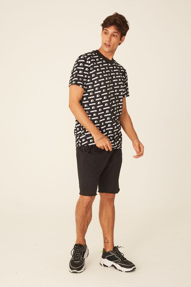 Camiseta-Starter-Estampada-Logoline-Preta