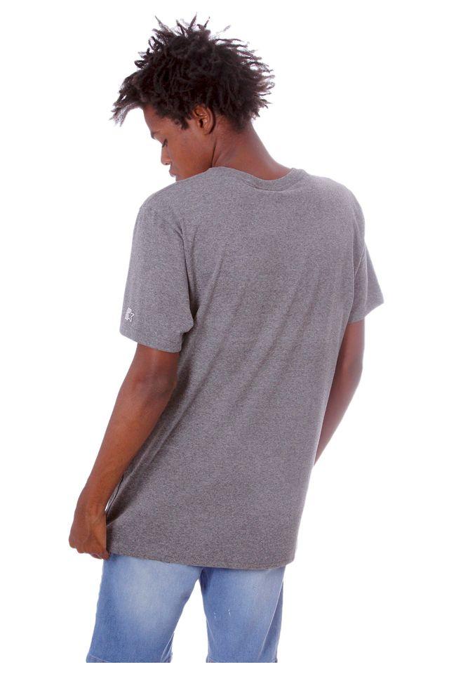 Camiseta-Starter-Estampada-Big-Logo-Cinza-Mescla-Escuro