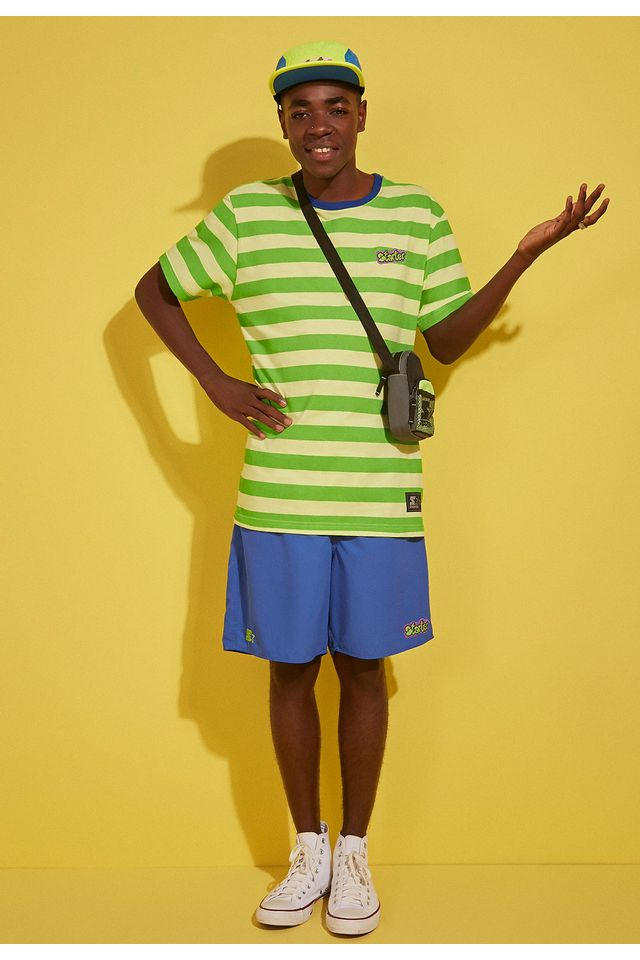 Camiseta-Starter-Listrada-Fresh-Prince-Verde