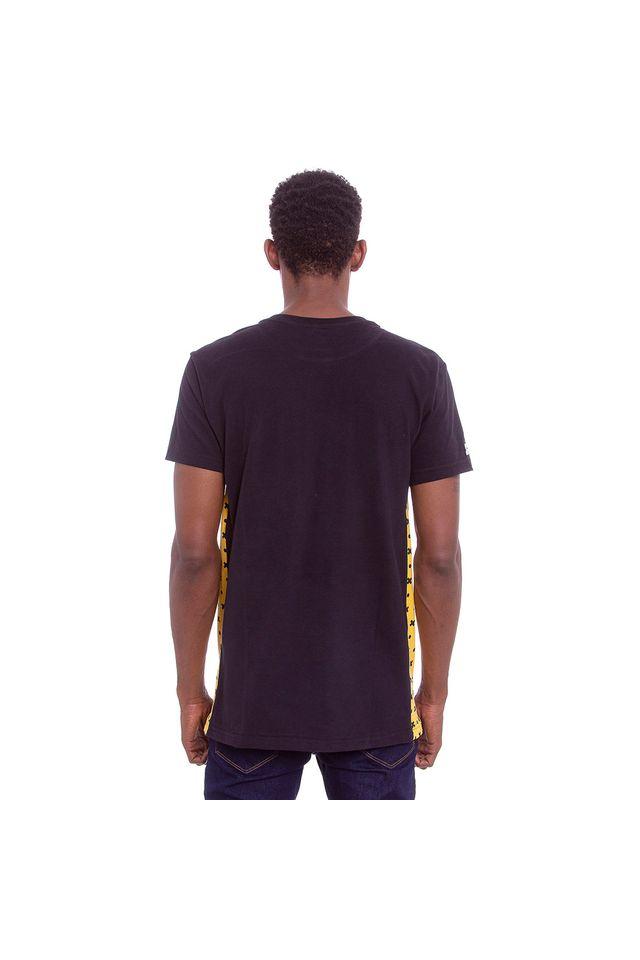 Camiseta-Starter-Estampada-Collab-Gato-Felix-Preta