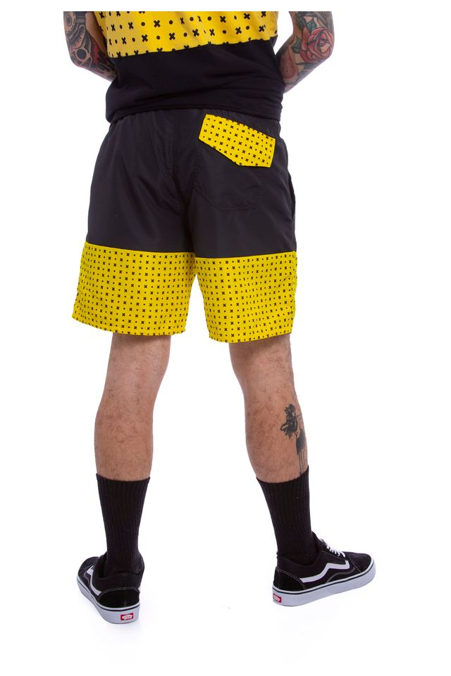 Shorts-Starter-Collab-Gato-Felix-Preto
