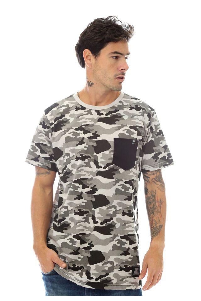 Camiseta-Starter-Estampada-Pocket-Camuflada-Cinza-Mescla