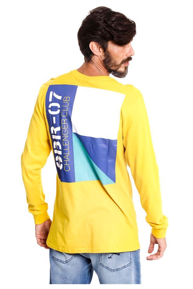 Camiseta-Starter-Manga-Longa-Estampada-Challenge-Collab-Sneakersbr-Amarela