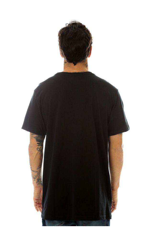 Camiseta-Starter-Estampada-Pocket-Lettering-Preta