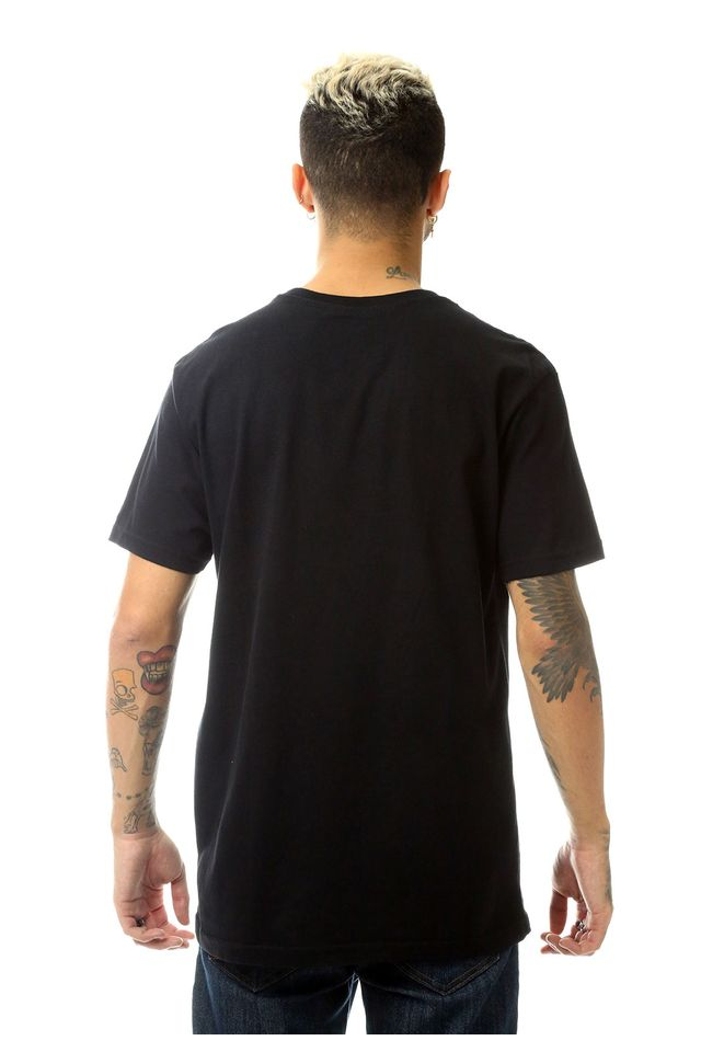 Camiseta-Starter-Estampada-Secret-Spy-Collab-Snoopy-Charlie-Brown-Preta