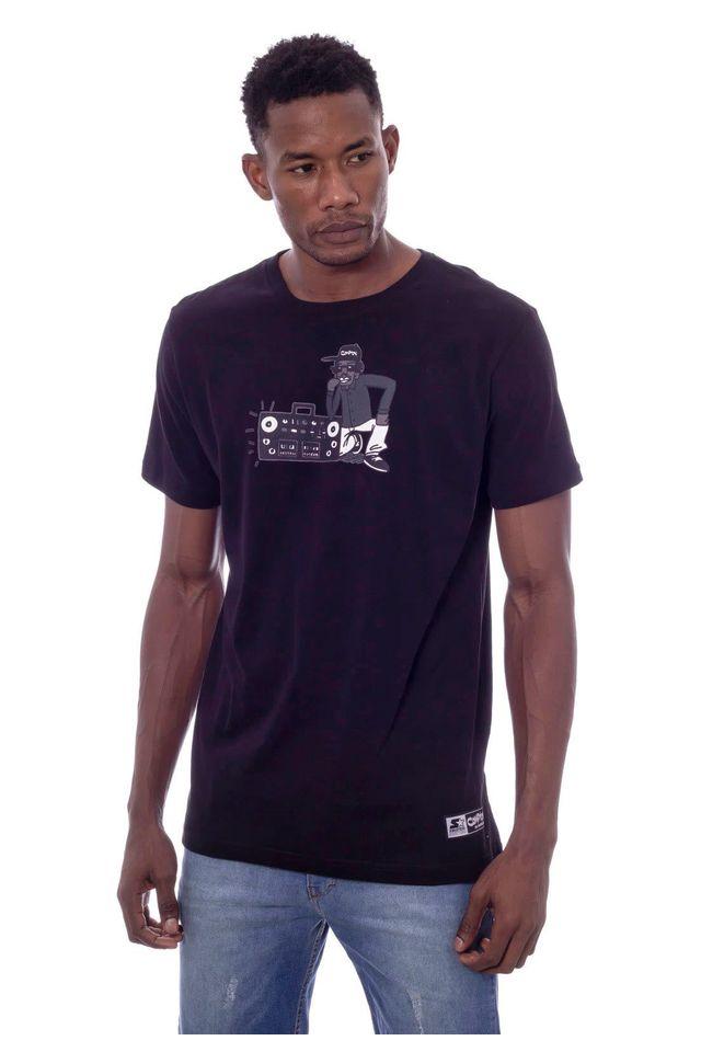 Camiseta-Starter-Estampada-Compton-Black-Label-Preta