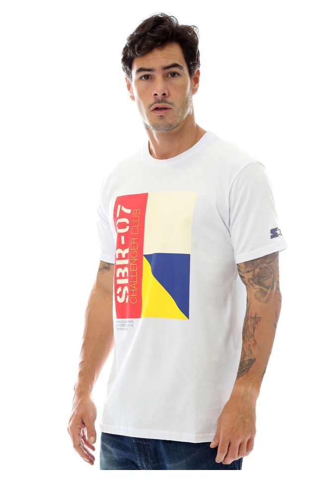 Camiseta-Starter-Estampada-Challenge-Club-Collab-Sneakersbr-Branca