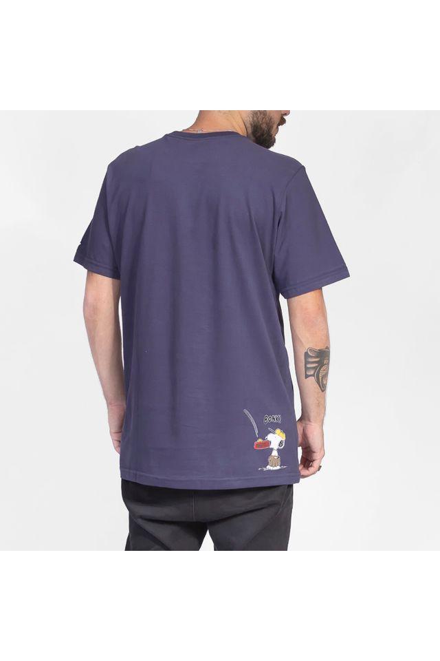 Camiseta-Starter-Estampada-Baseball-Collab-Snoopy-Charlie-Brown-Azul-Marinho