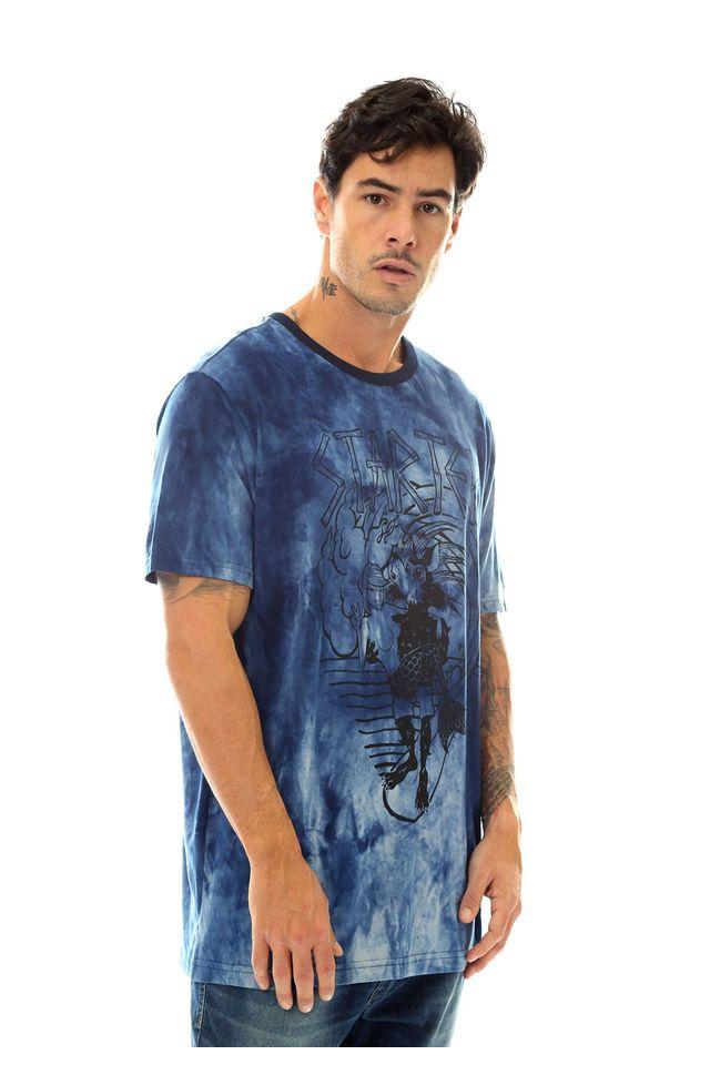Camiseta-Starter-Estampada-Mermaid-Tie-Dye-Azul-Marinho