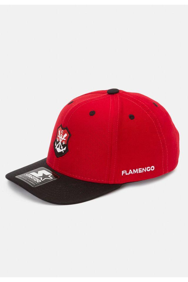 Bone-Starter-Infantil-Aba-Curva-Snapback-Collab-Flamengo-Oficial-Vermelho
