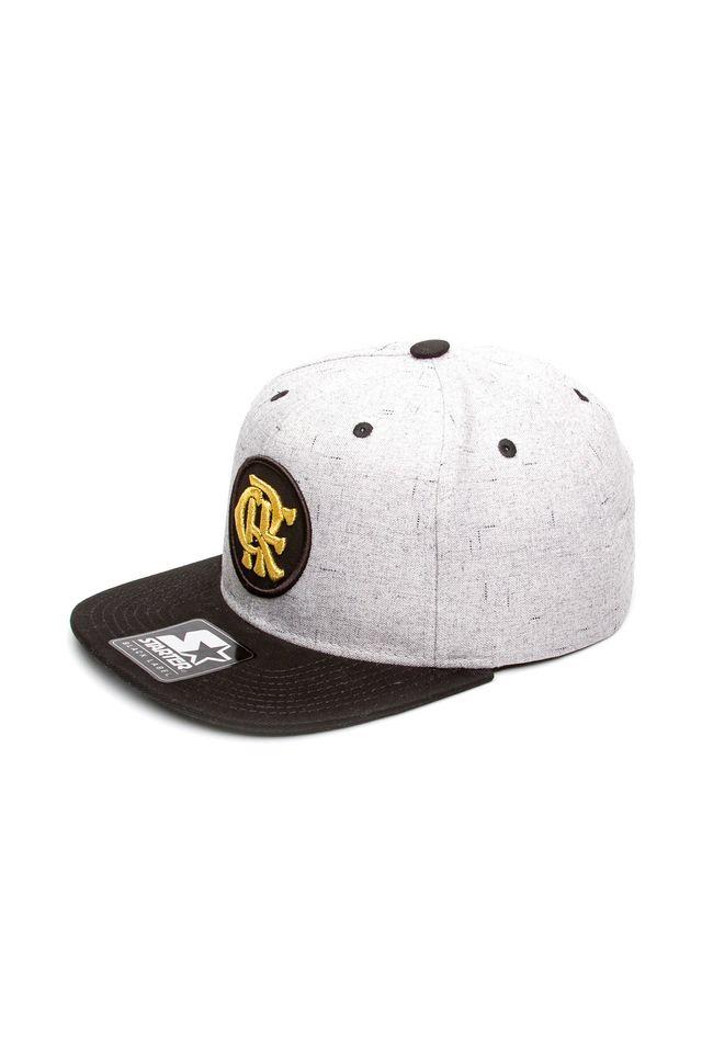 Bone-Starter-Aba-Reta-Snapback-Logo-Collab-Flamengo-Oficial-Preto